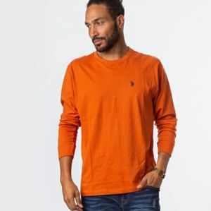 US Polo Assn. Men's Orange Long Sleeve Shirt